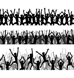 Monkey crowds vector image vector image