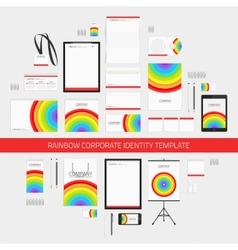 Rainbow corporate identity template vector image vector image