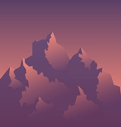 Stylized Image of Mountains at Sunrise vector image vector image