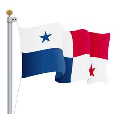 waving panama flag isolated on a white background vector image