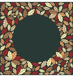 background with colorful leaves vector image