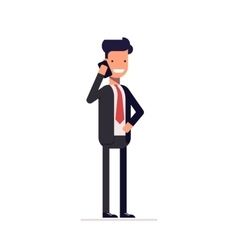 Businessman or manager in a business suit standing vector image