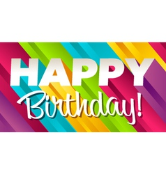 colorful happy birthday vector image vector image
