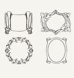 Four Ancient Frames vector image