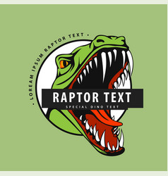 logo with a raptor on a green background vector image