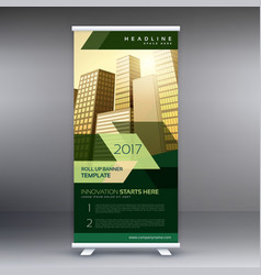 modern business roll up banner or standee design vector image vector image