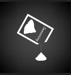 seasoning package icon vector image
