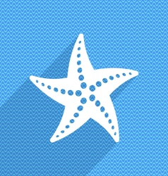 summer card with starfish vector image