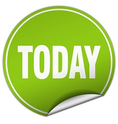 today round green sticker isolated on white vector image vector image