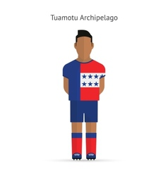 Tuamotu Archipelago football player Soccer uniform vector image vector image