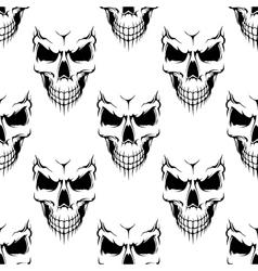 Black danger skull seamless pattern vector image vector image