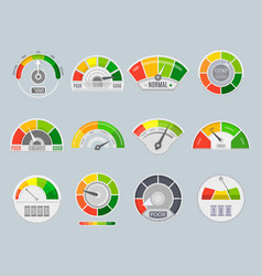 credit score indicators vector image