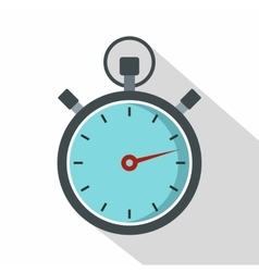 Gray stopwatch icon flat style vector image vector image