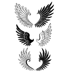Set of wings for tattoo vector