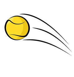Tennis ball sketch vector image vector image