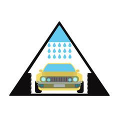 Car wash emblem and symbol vector