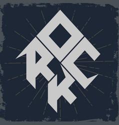 rock lettering vector image vector image