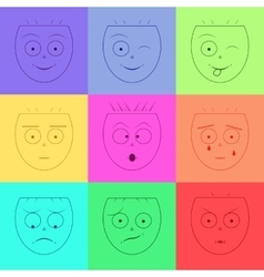 Smiley face Set of emoticons Emotion icons vector image vector image