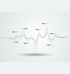 abstract black dynamic line vector image