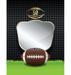 American Football Background Template vector image