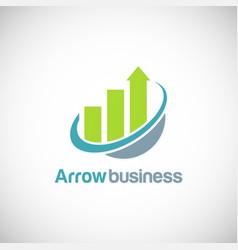 Arrow progress business finance logo vector