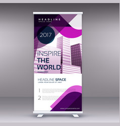 Awesome business roll up banner or standee design vector
