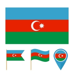 Azerbaijancountry flag vector image