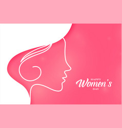 beautiful happy womens day pink background design vector image
