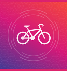 bicycle icon cycling symbol vector image