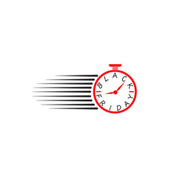 black friday chronometer timer watch effect vector image