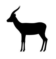 black silhouette antelope gazelle vector image