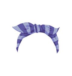 Blue women headband or bandana template realistic vector