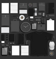 branding mockup black set vector image