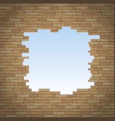 Break in brick wall vector