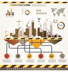 Building and construction infographics icons set vector