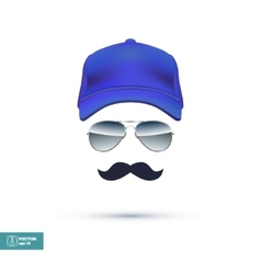 Cap Glasses and Mustache vector image
