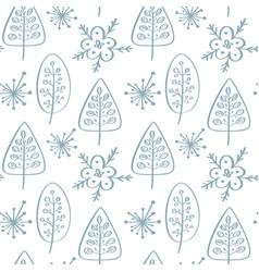 christmas seamless pattern in scandinavian vector image