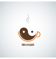 Coffee cup yin yang background vector