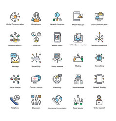 Colored network and communication set vector