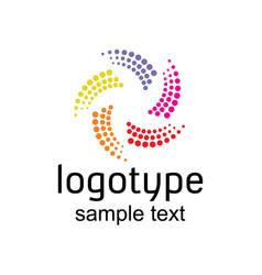 Colorful logo design vector