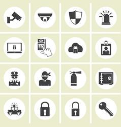 crime world symbols set vector image vector image