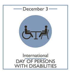 Day of Persons with Disabilities vector