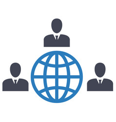 Deal global network globalization icon vector