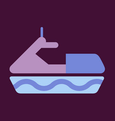 Detailed jet boatscooter vector