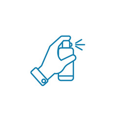 disinfectants linear icon concept disinfectants vector image