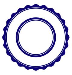 Double rosette circular frame template vector