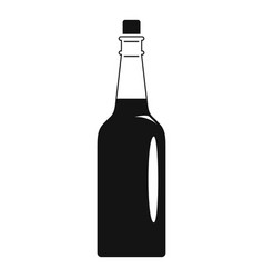 Fine olive oil bottle icon simple style vector