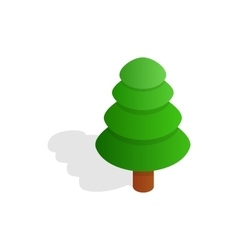 Fir tree icon isometric 3d style vector