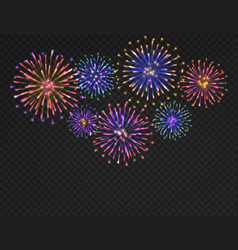 Firework background isolated carnival salute on vector
