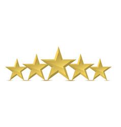 five golden star vector image